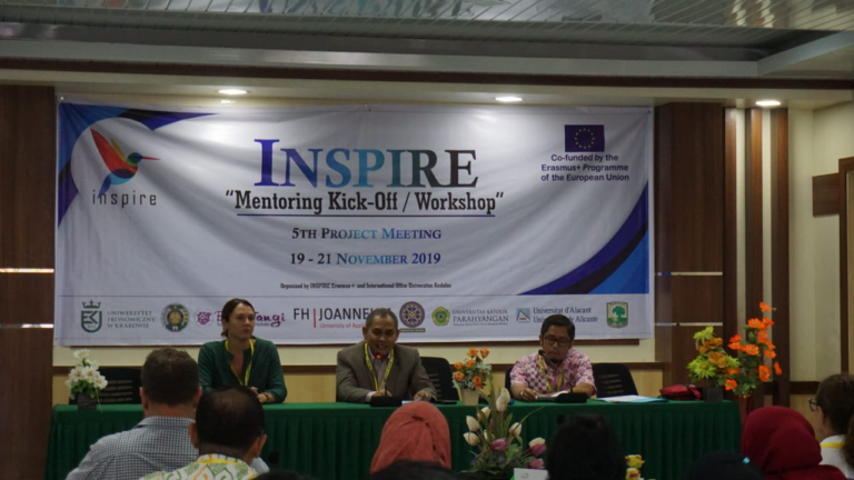 Opening of INSPIRE Mentoring Kick-Off / Workshop and 5th Project Meeting by WR 4 Dr. Endry Martius, accompanied by Ms. Lisa Mahajan and Dr. Ma'ruf